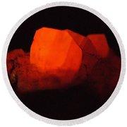 Phosphorescent Calcite Crystal Round Beach Towel