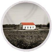 Plantation Church Round Beach Towel