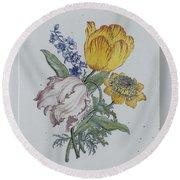Plate, Anonymous, C. 1750 - C. 1775 Round Beach Towel