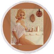 Playboy, Miss August 1962 Round Beach Towel