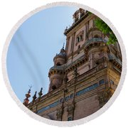 Plaza De Espana - Seville - Spain  Round Beach Towel
