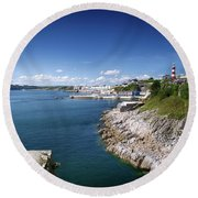 Plymouth Foreshore Round Beach Towel