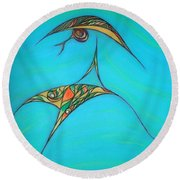Pneuma Round Beach Towel