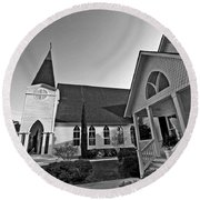 Point Clear Alabama St. Francis Church Round Beach Towel