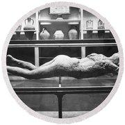 Pompeii: Plaster Cast Round Beach Towel
