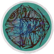 Pop Art - New Tropical Fish Poster Round Beach Towel
