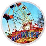 Portable Ferris Wheel Victorian Winter Fair Round Beach Towel