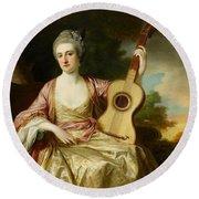 Portrait Of Maria Walpole Round Beach Towel