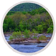 Potomac River Near Harpers Ferry Round Beach Towel