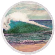 Powerful Sea Round Beach Towel