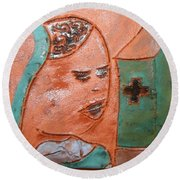 Prayer 37 - Tile Round Beach Towel