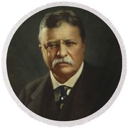 President Theodore Roosevelt  Round Beach Towel by War Is Hell Store