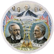 Presidential Campaign, 1888 Round Beach Towel