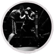 Prize Fighters Round Beach Towel