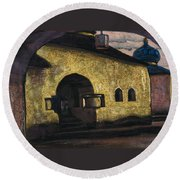 Pskov Round Beach Towel