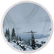 Ptarmigan Lake - Glacier National Park Round Beach Towel