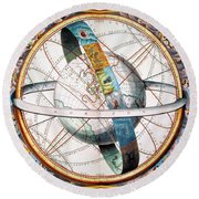 Ptolemaic Universe, 1660 Round Beach Towel