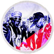 Public Enemy Collection Round Beach Towel