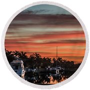 Punta Gorda From Bal Harbor Round Beach Towel