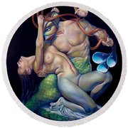 Pygmalion And Galatea Round Beach Towel