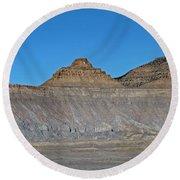 Pyramid Mountains In Emery County Utah Round Beach Towel