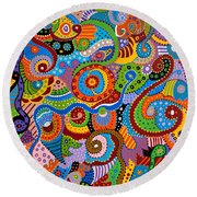 Quantum Strands Round Beach Towel