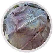Rainbow Colored Sandstone In Valley Of Fire Round Beach Towel