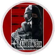 Rainbow Six Round Beach Towel