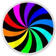 Rainbow Spectral Swirl Round Beach Towel