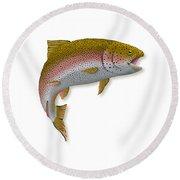 Rainbow Trout 1 Round Beach Towel