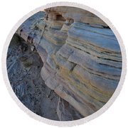 Rainbow Wave Of Sandstone In Valley Of Fire Round Beach Towel