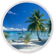 Rangiroa Atoll, Kia Ora Round Beach Towel