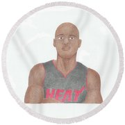 Ray Allen Round Beach Towel by Toni Jaso