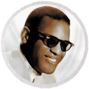 Ray Charles, Music Legend Round Beach Towel