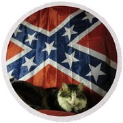 Rebel Cat Round Beach Towel