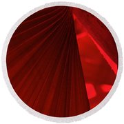 Red As Blood Round Beach Towel