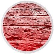 Red Brick Wall Round Beach Towel