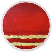 Red Dawn Round Beach Towel