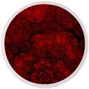 Red Fractal 051910 Round Beach Towel