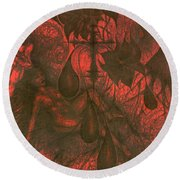 Red Hell  Round Beach Towel
