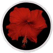 1- Red Hibiscus Round Beach Towel