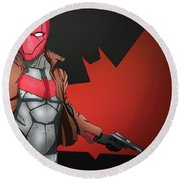 Red Hood Round Beach Towel