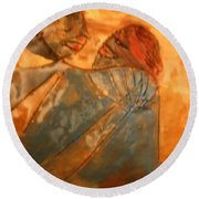 Red Kiss - Tile Round Beach Towel