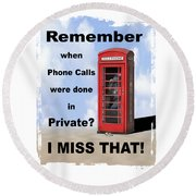 Remember When . . . Round Beach Towel