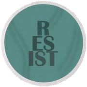 Resist Round Beach Towel