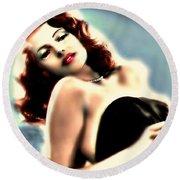 Rita Hayworth Round Beach Towel