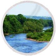 River Wye From Hay-on-wye Bridge Round Beach Towel