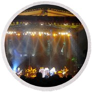 Rock Concert Round Beach Towel