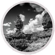 Rock Formations Of Bryce Canyon Round Beach Towel