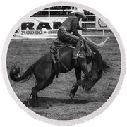 Rodeo Saddleback Riding 5 Round Beach Towel